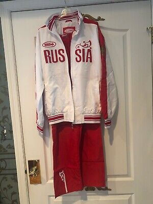$149.99 • Buy Bosco Sport Russia Track Suit Jacket Pants White Red Russian Olympic Team NWT S