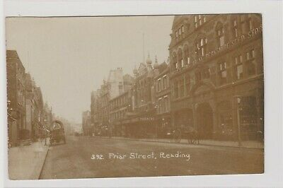 Reading Friar Street Shows Theatre Animated Real Photograph Postcard U/P C1905 • 5£