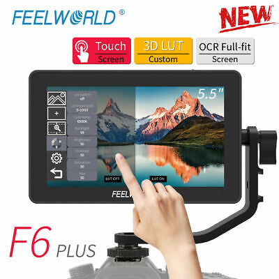 AU237.58 • Buy FEELWORLD F6PLUS 5.5 Inch IPS Touch Screen 1920*1080 Video Camera Field Monitor