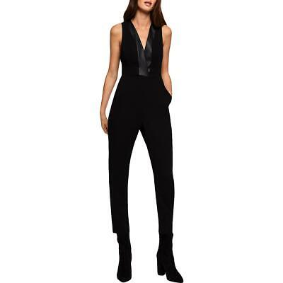$50.99 • Buy BCBGeneration Womens Faux Leather Trim Tuxedo V-Neck Jumpsuit BHFO 1593