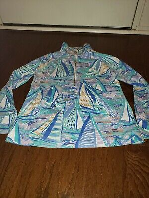 $45 • Buy Lilly Pulitzer Skipper Popover Lilac Verbena ABOAT TIME Small SM