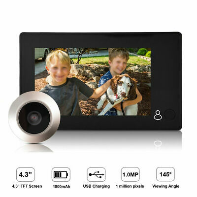 4.3 Inch Digital Peephole Viewer Door Eye Doorbell Wired Home Video Camera • 36.17£