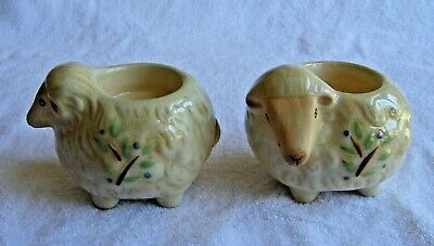 £8.50 • Buy Pair Of Ceramic Sheep Candle Votive Holders