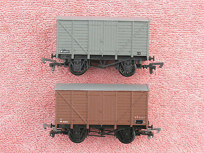 DAPOL B92 & B93: TWO GWR 12t VENT VANS - BR BROWN & BR GREY - EXCELLENT - BOXED • 6.25£