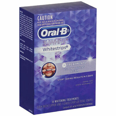 AU23.95 • Buy New 14 Oral B 3D Teeth Whitening Strips Dental Stain Remover Gel Sheet Oral Care