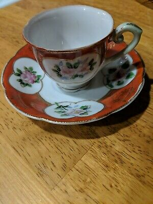 $18 • Buy Hand Painted Antique Cup And Saucer Set