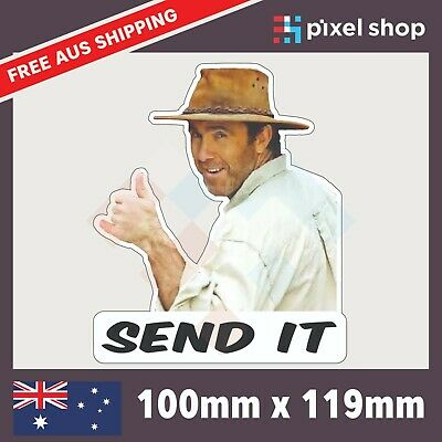 AU5.25 • Buy Send It Coight Yeah The Boys - 100mm NT Outback Funny Car/Ute/Window/Truck