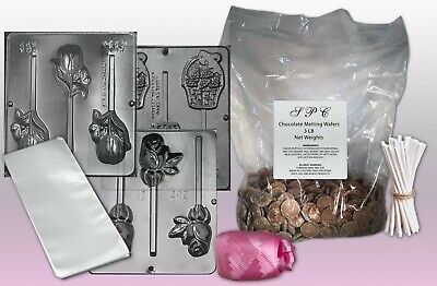 Mothers Day Chocolate Lollipop Making Kit With Molds & Chocolate • 14.89£