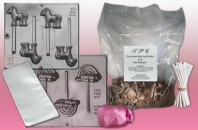Girls Lollipop Making Kit With Molds & Chocolate • 14.89£