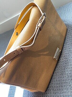 AU60 • Buy OROTON Large Tan Leather Crossbody Hand Bag Brand New Condition