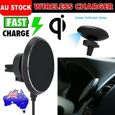 AU30.95 • Buy Qi Wireless Car Charger Charging Magnetic Mount Stand Holder For IPhone Samsung