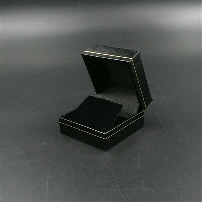AU14.64 • Buy Black Leatherette Velvet Jewellery Presentation Stud Hook Drop Earrings Gift Box