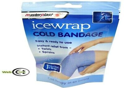 Masterplast Ice Wrap Cold Bandage Compress Therapy Treats Injury Muscle Pain Rel • 2.99£
