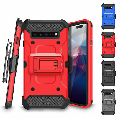 $ CDN8.54 • Buy For Samsung Galaxy S10 S9 S8 Full-body Rugged Holster Heavy Duty Kickstand Case