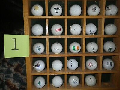 Collection Of Vintage Golf Balls With Display Case Used • 89.41£