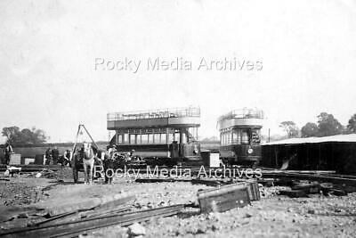 Bcd-80 First Two Trams Arriving At Heanor, Derbyshire 1913. Photo • 3.25£
