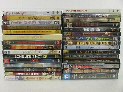 $ CDN5.27 • Buy Lot Of 30 Assorted DVDs All Genres Romance Comedy Thriller Action Drama Classics