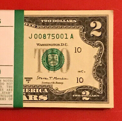 $ CDN9.10 • Buy 2017 A (1) Two Dollar Bill $2 Note ( CHICAGO ) Consecutive ,Uncirculated