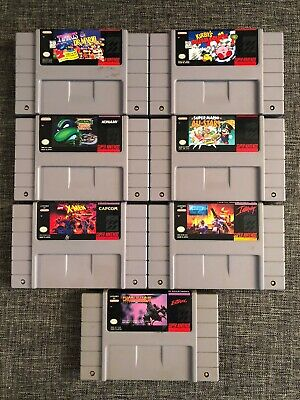 $ CDN160 • Buy Lot Of 7 SNES (Super Nintendo) Games: Mario, Kirby, X-Men, Turtles, Clay +++