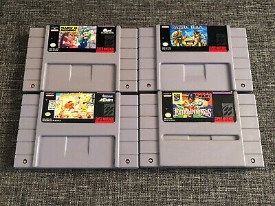 $ CDN55 • Buy Lot Of 4 SNES (Super Nintendo) Games: Mario Is Missing, Battle Blaze, Innings ++