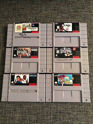 $ CDN85 • Buy Lot Of 6 SNES (Super Nintendo) Games: Power Rangers, Hook, Lethal Weapon, NBA ++