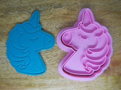 AU14.95 • Buy Unicorn Cookie Cutter & Fondant Stamp 2pce Set Fairytale Princess Birthday Party