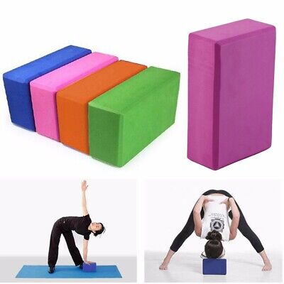 AU28.99 • Buy 2Pcs Yoga Block Brick Foaming Home Exercise Practice Fitness Gym Sport Tool AU