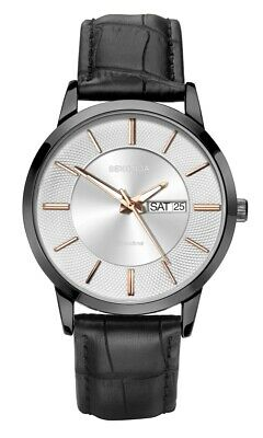 £24.99 • Buy Sekonda Mens Watch With Silver Dial And Black Leather Strap 1815