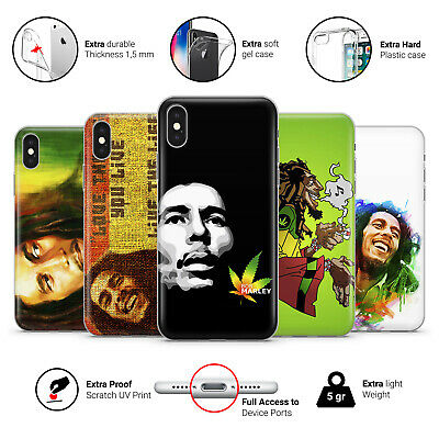 Bob Marley Reggae Rastaman Rasta Jamaica Phone Case Cover For IPhone • 7.49£