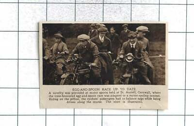 1922 Egg And Spoon Race On Motorbikes At St. Austell Cornwall • 5£