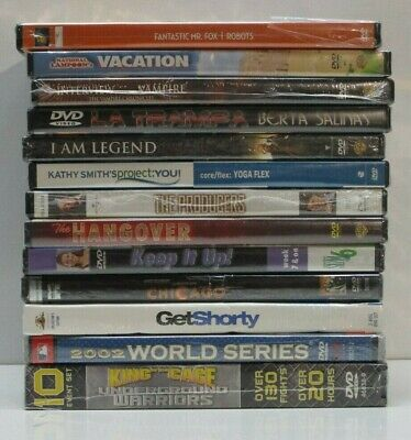 $ CDN9.18 • Buy Wholesale Lot Of 13 (Brand New) Assorted DVDs & DVDs Movies
