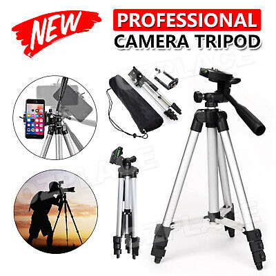 AU19.95 • Buy Professional Camera Tripod Stand Mount + Phone Holder For Phone IPhone Samsung