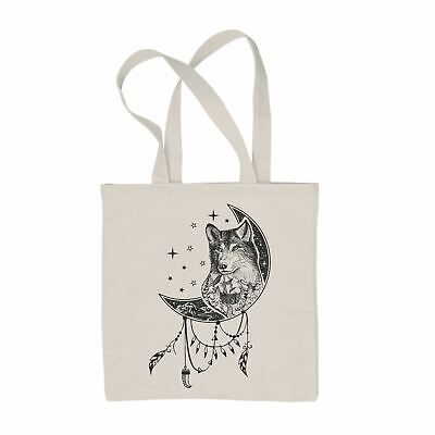 £6.99 • Buy Wolf Dreamcatcher Native American Tattoo Hipster  Tote Shoulder Shopping Bag
