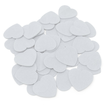 £2.99 • Buy White 28mm Love Hearts Wooden Shabby Chic Craft Scrapbook Coloured Hearts