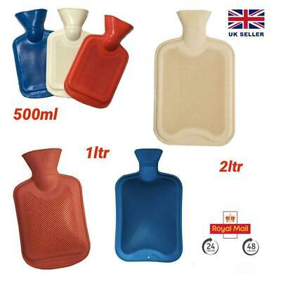 £4.49 • Buy 2 Litre 1 Litre 500ml Hot Water Bottle Natural Rubber Winter Warmer Small Large