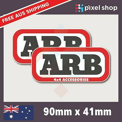 AU4.95 • Buy 2x 90mm ARB 4x4 Accessories Decal Sticker Truck Ute Bumper 4WD
