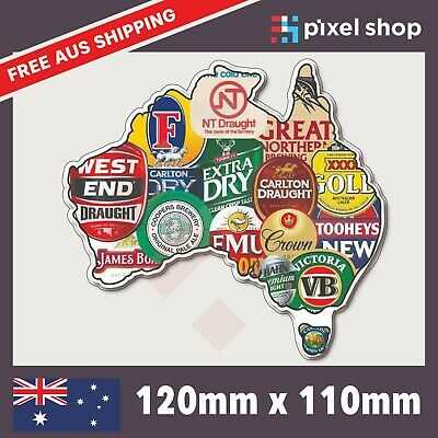 AU4.99 • Buy Aussie Beer Brands Sticker Decal Straya Funny Bogan JDM Car Ute 4x4 Tool Box