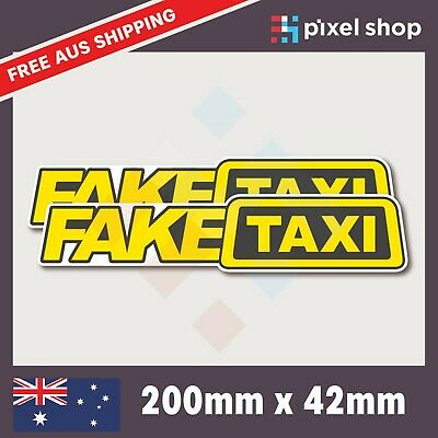 AU5.29 • Buy 2x Fake Taxi Sticker Decal - Funny JDM Drift Prank Joke Bumper Rude Car 4x4 Ute
