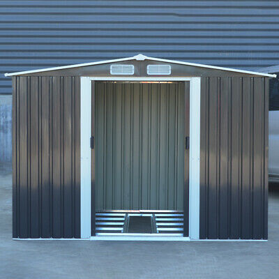 Pent Outdoor Metal Garden Storage Shed Outdoor Storage Tool Box 6x8ft +Free Base • 298.95£