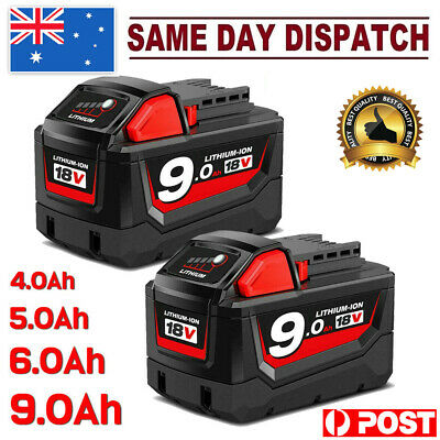 AU42.99 • Buy For Milwaukee M18 XC 9.0/6.0AH Li-ion 18V Battery M18B 48-11-1852 48-11-182 Pack