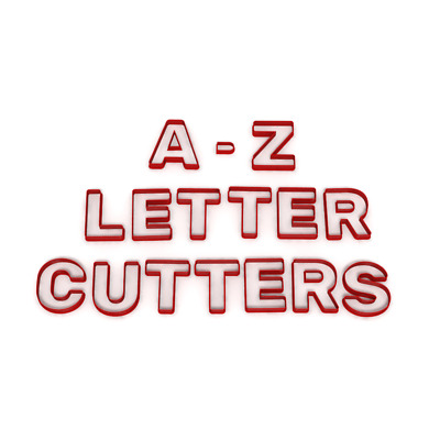 ONE LETTER ONLY Cookie Fondant Cutters Birthday Cake Icing Name Letters A-Z UK • 1.99£