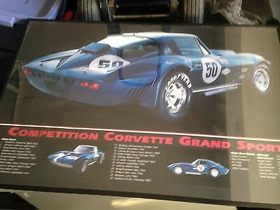 $11.99 • Buy Competition Corvette Grand Sport #50 - Chassis #0004 Car Poster
