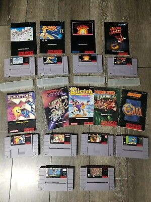 $ CDN18.33 • Buy * Lot Of (10) Original Authentic Super Nintendo SNES Games, Some W/ Manuals
