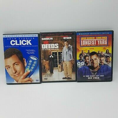 $ CDN9.17 • Buy Adam Sandler Lot Of 3 DVDs: Click, Longest Yard & Mr. Deeds