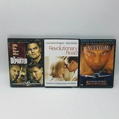$ CDN9.17 • Buy Leonardo DiCaprio Lot Of 3 DVDs: The Departed, Revolutionary & Aviator