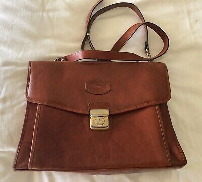 AU75 • Buy OROTON Vintage Brown Leather Crossover Handbag In Great Condition