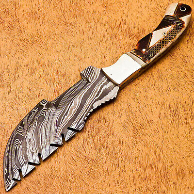 $27.99 • Buy Rody Stan HAND MADE DAMASCUS TRACKER HUNTING KNIFE -  FULL TANG - MP-2896