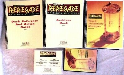 Dan Kennedy Renegade Millionaire System (15 CD's, 3 Reference & Action Manuals • 77£