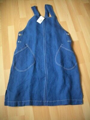 Ladies Brora Sapphire Linen Pinafore Size 12 NWT • 50£