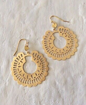 $ CDN40.90 • Buy NEW Brushed Gold Finished Anthropologie Earrings / With Jewelry Bag